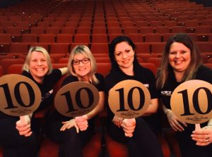 Palace Theatre staff give it four 10s